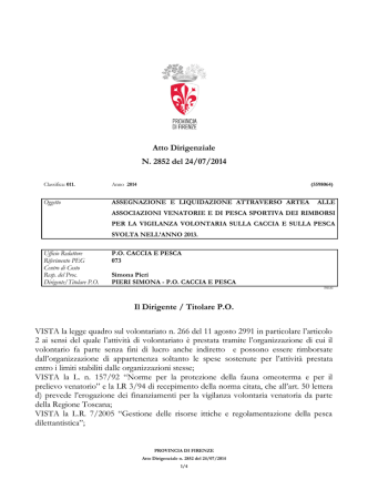 Atto Dirigenziale N. 2852/2014