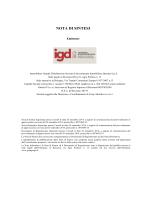 Immobiliare Grande Distribuzione SIIQ SpA - Nota di Sintesi