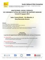 Programma dei lavori Usura e Anat 27 giu 14