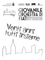 VENTI ANNI TUTTI INSIEME - Giovanile Orchestra di Fiati