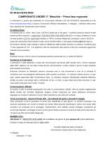 CAMPIONATO UNDER 17 Maschile – Prima fase regionale