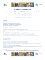 Workshop GSA AIDEA - Facoltà di Economia