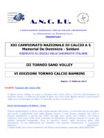 Circolare Calcio a 5 - Sand Volley