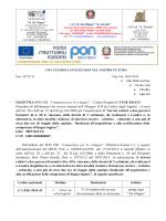 Lettera invito progetto PON C1