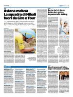 Astana esclusa La squadra di Nibali fuori da Giro e Tour