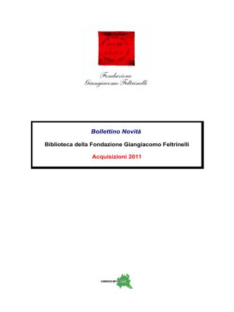 2011 Anno - Fondazione Giangiacomo Feltrinelli