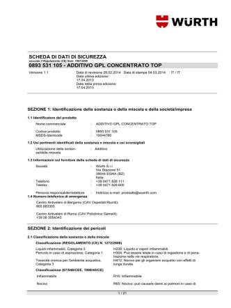 0893 531 105 - ADDITIVO GPL CONCENTRATO TOP