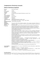 Insegnamento: Biochimica avanzata Modulo: Biochimica