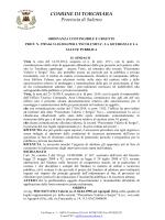 ordinanza - Comune di Torchiara