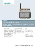 Brochure modulo allarme GSM