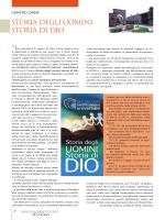 """Centro Oreb: """"Storia degli uomini, storia di Dio"""""""