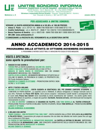 ANNO ACCADEMICO 2014-2015