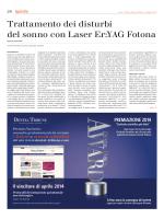Trattamento dei disturbi del sonno con Laser Er:YAG Fotona