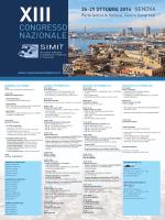 Locandina - XIII Congresso Nazionale SIMIT