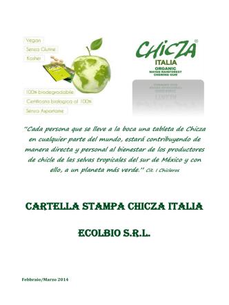 CARTELLA STAMPA CHICZA ITALIA Ecolbio s.r.l.