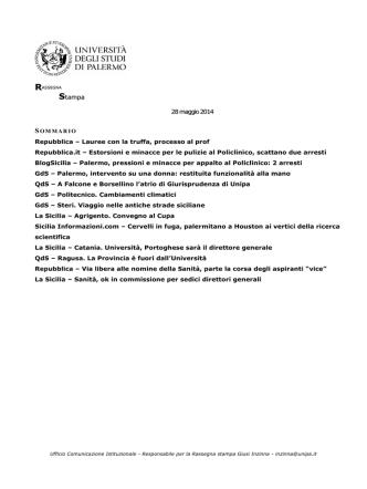 38. rass 28 maggio 2014 - Università di Palermo