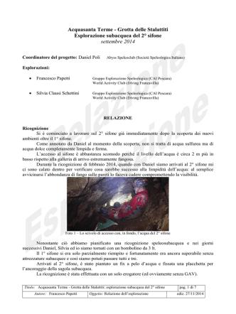 Acquasanta Terme - Grotta delle Stalattiti Esplorazione