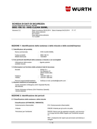 0893 106 10 - HHS CLEAN 500ML