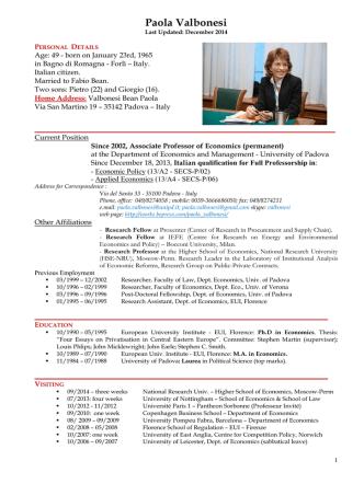 Curriculum Vitae [PDF]