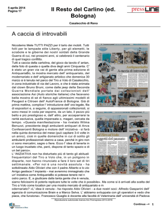 A caccia di introvabili Il Resto del Carlino (ed. Bologna)