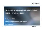 Workshop sulla revisione della Direttiva MIFID – 11