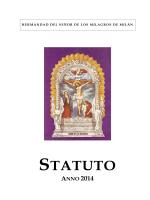 Statuto della Hermandad di Milano