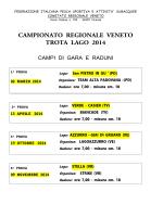CAMPIONATO REGIONALE VENETO TROTA LAGO 2014