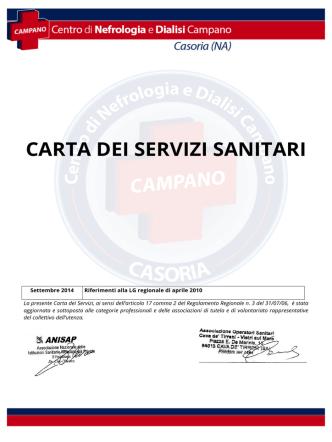 Carta dei servizi - Centro di nefrologia e dialisi campano