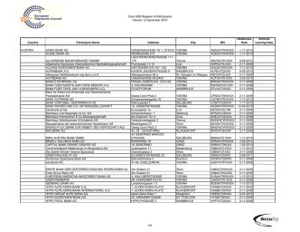 Core SDD Register of Participants Version 12 December 2014