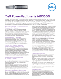 Dell PowerVault serie MD3600f