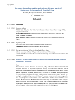 Reconnecting policy making and science: How do we do it? Study
