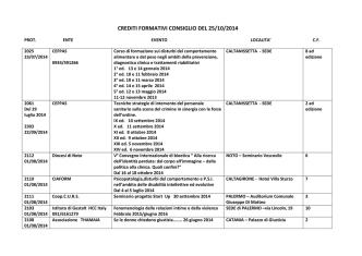 crediti formativi consiglio del 25/10/2014