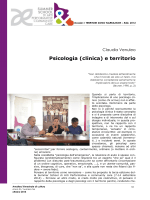 Psicologia ( Psicologia (clinica) e territorio linica) e territorio