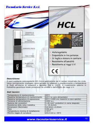Cavo HCL - TecnoLario Service srl