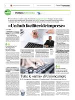 «Un hub faciliterà le imprese» - Corriere delle comunicazioni