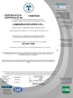 13665/05/S LOMBARDA RECUPERI S.R.L. CERTIFICATE No