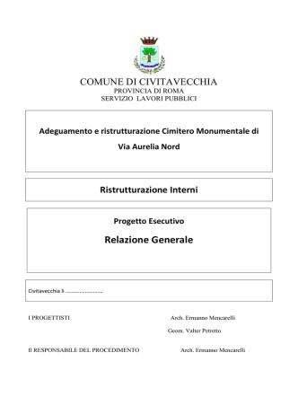 1.0 RELAZIONE GENERALE - Comune di Civitavecchia