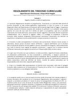 nuovo regolamento del tirocinio curriculare 2014