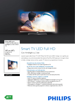 42PFT6309/12 Philips TV LED Full HD sottile con Ambilight su 2 lati
