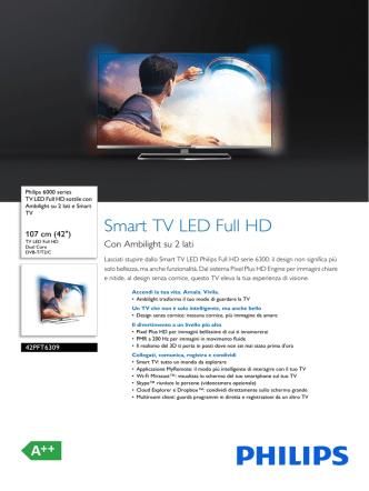 42PFT6309/12 Philips TV LED Full HD sottile con Ambilight su 2 lati