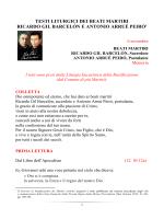 (S. Messa e Letture) dei Beati Martiri Ricardo Gil