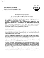 Programma elettorale Alessandro Porchetta