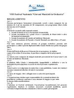 """VIII Festival Nazionale """"Giovani Musicisti in Orchestra"""""""