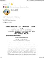 Modello di iscrizione classi prime - IISS Giannone-Masi