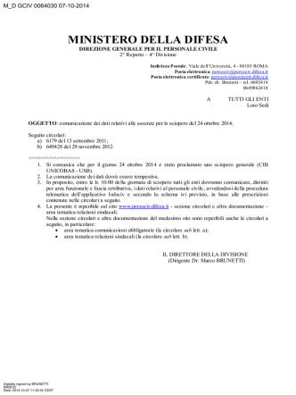 Circolare (file  322 Kb) - Ministero della Difesa