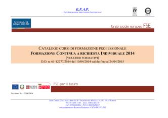 Catalogo - Torino - EFAP - Ente Formazione Abilitazioni Professionali