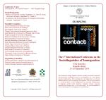 Conference Programme - Dipartimento di Lingue e Letterature