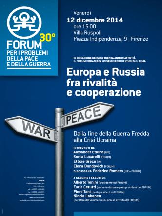Alexander Etkind(Iue) Sonia Lucarelli(Forum) Ettore Greco(IaI