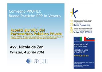 DE ZAN_ Aspetti legali PPP - Profili ITA-SLO