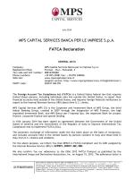 FATCA Declaration MPS CS - MPS Capital Services Banca per le